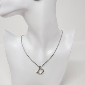 Dior Jewelry - 100% Authentic Dior Necklace w/ Pendant D in Metal